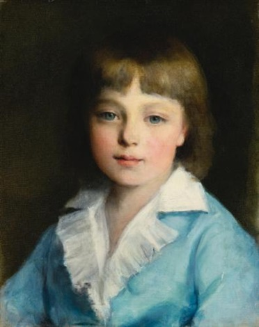 portrait of a boy in blue by pierre auguste renoir
