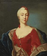 porträtt föreställande elisabeth von linné (f. moræa, 1716-1806), hustru till carl von linné by olof arenius