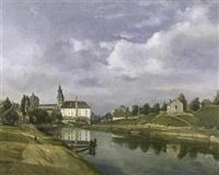 vue de gand avec sur l'arrière-plan l'abbaye st. pierre by françois jean louis boulanger
