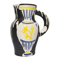 pichet au vase/pitcher with vase by pablo picasso