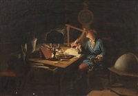 astronomer in the observatory by etienne jeaurat