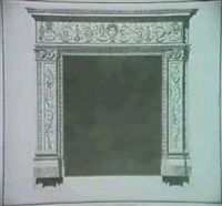 chimney piece for an english client by giuseppe manochi