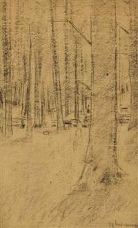 buchenwald bei kösen (study for 'gedächtnisfeier für kaiser friedrich iii in kösen) by max liebermann