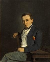 portrait d'homme au cigare by francois-louis-david bocion