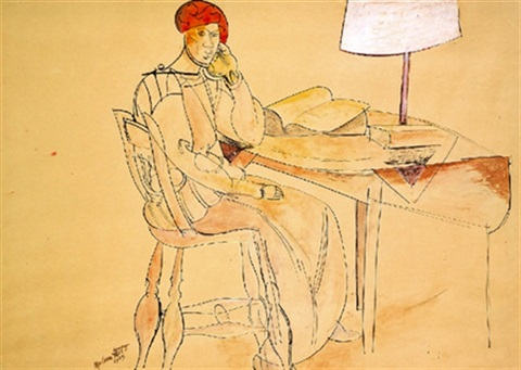 the reading lamp by wyndham lewis