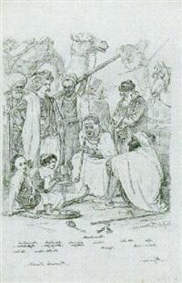 algerien, frauen- u. männertrachten by vasili fedorovich (george wilhelm) timm