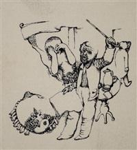 tuschezeichnungen zu: frantisek kafka. promena (10 works) by otto coester