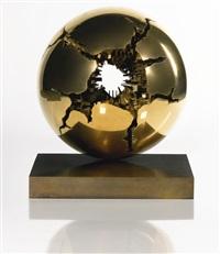sfera con perforazione by arnaldo pomodoro
