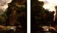 lavandière au bord de la rivière (+ la rivière en bas de la montagne; pair) by perelle