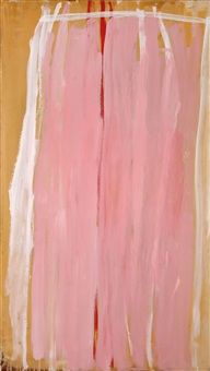 pink, white line, yellow edge, red line middle by john anthony (tony) tuckson