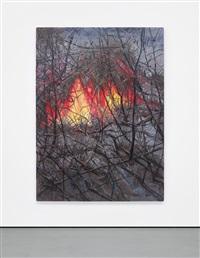 landscape (flames) by zeng fanzhi