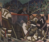 hockey mêlée by caven ernest atkins