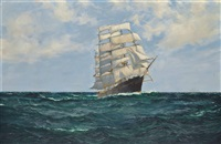 the celebrated clipper cutty sark racing home by montague dawson
