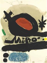 exposition l'oiseau solaire, l'oiseau lunaire, etincelles by joan miró