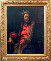 portrait du peintre marteen rijkaert (1587-1631) by sir anthony van dyck