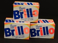 three brillo pads by andy warhol