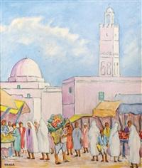 scène de rue à tunis by besmia ben yahia