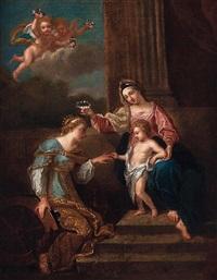 die mystische vermählung der hl. katharina von alexandrien by nicolas poussin