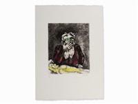 abraham pleurant sara by marc chagall