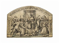 the massacre of the innocents: design for stained glass by hans holbein the younger