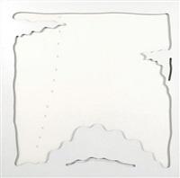 concetto spaziale-teatrino (bianco) by lucio fontana