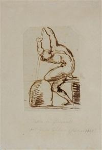 etude de batelier nu by théodore géricault