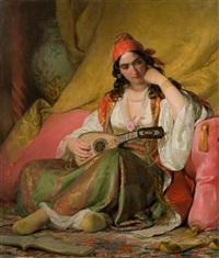 regine in griechischem kostüm by friedrich von amerling