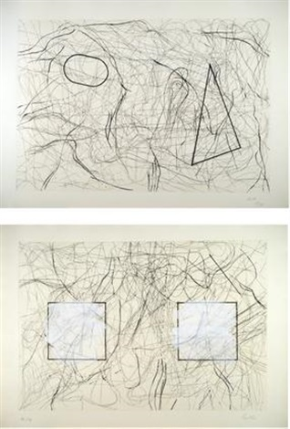 ohne titel (2 works) by michael buthe