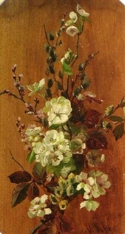 dogwood, cherry blossoms and pussywillow by marie hesse