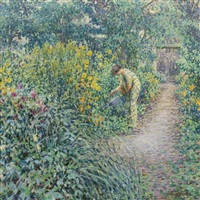 garden on a gray day by louis ritman