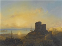 crusader castle on the ottoman coast by jacob jacobs