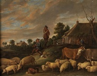 coloquio pastoril by david teniers the younger