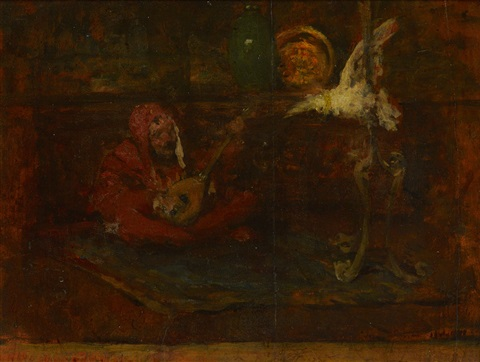 serenade to a cockatoo by william merritt chase