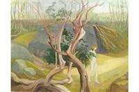 figure amonng the trees by barbara warren
