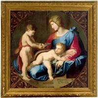 la madonna con il bambino e san giovannino by luigi agricola