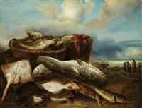 un retour de pêche by abraham van beyeren
