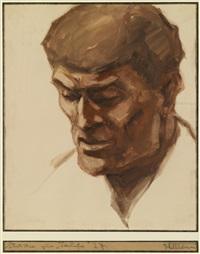 portrait eines mannes mit gesenktem blick by lois alton