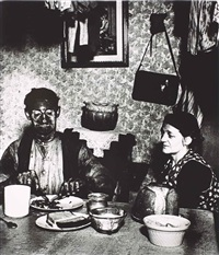 coal miner at his evening meal, wiltshire by bill brandt