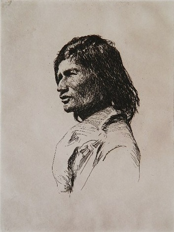 nascaupee indian by frank weston benson