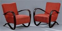 paire de fauteuils, modèle h-269 (pair) by jindrich halabala