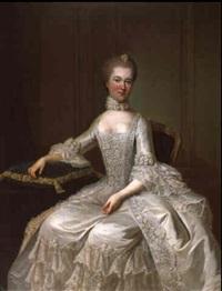 bildnis einer dame in weißem seidenkleid by guillaume jean joseph de spinny