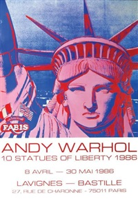 statue of liberty by andy warhol