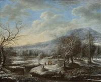 a winter landscape by daniel van heil