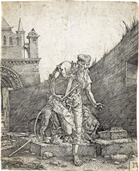 saint jerome at the wall by albrecht altdorfer