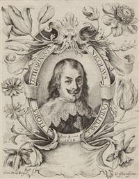 frontispice avec le portrait de l'artiste by nicolas de la fleur