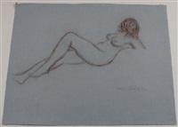 weibliche akte, z. t. erotische darstellungen (4 works) by hans böhler