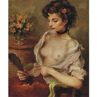 jeune femme aux seins nus by marcel dyf
