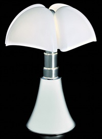 adjustable table lamp model pipistrello by gae aulenti