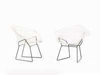 diamond chairs (pair) by harry bertoia