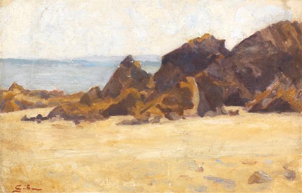 bord de mer à saint palais by armand guillaumin